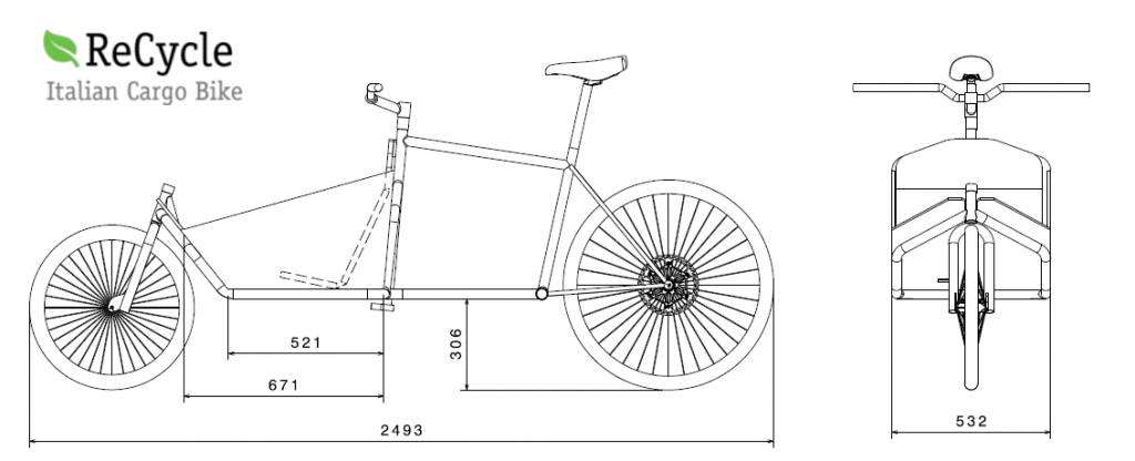 cargo bike geometry how to build officine recycle