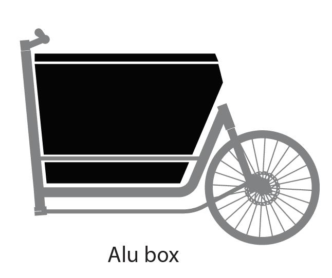 bronte xl alu box cassone alluminio 250lt